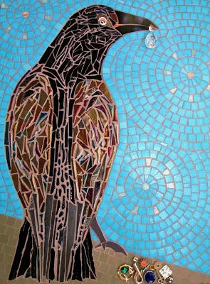 The Collector, mosaic art, by Jeannette Brossart, Durham, NC
