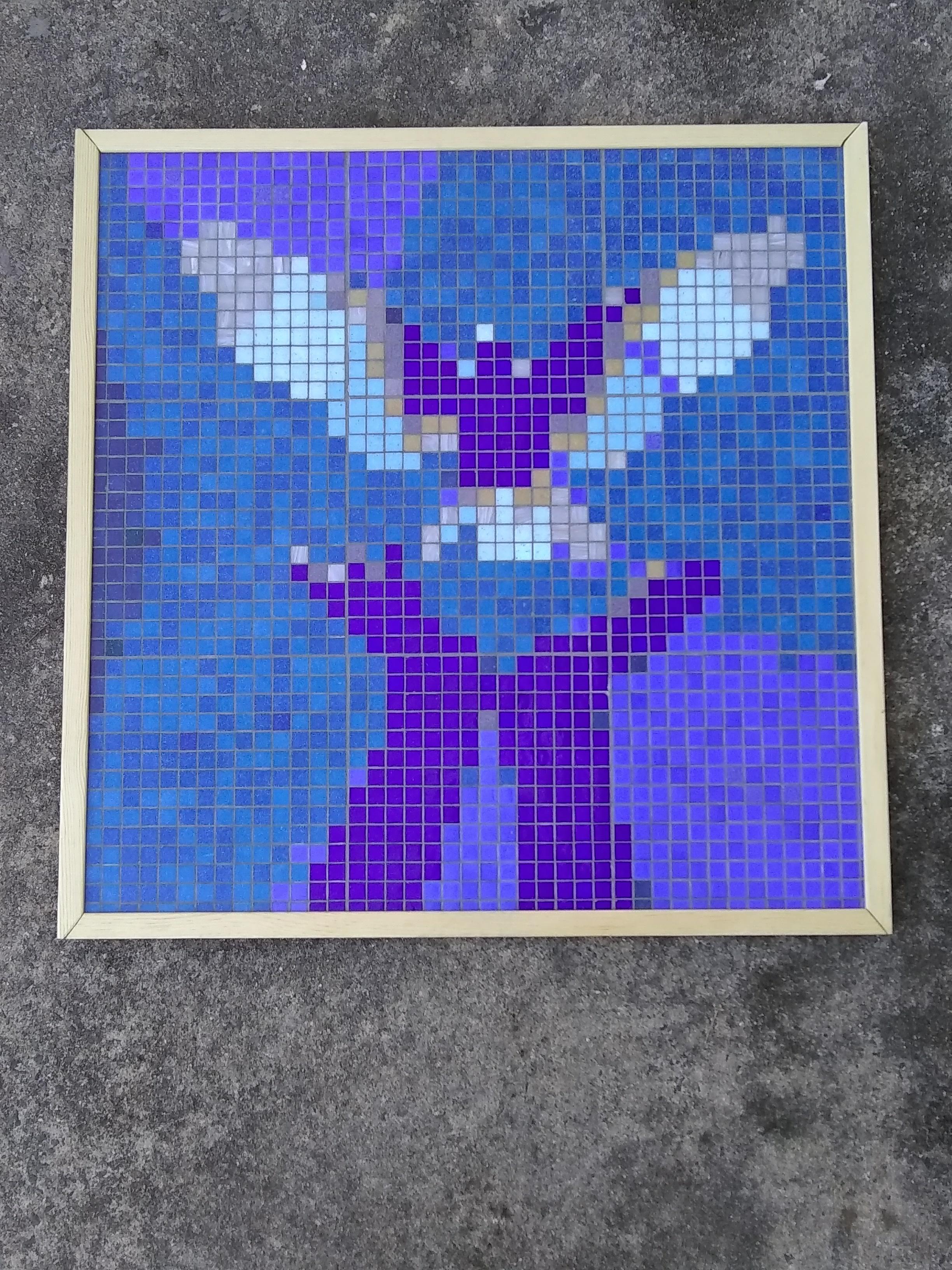 Rogers Herr Middle School, Durham NC Art Club, pixel art mosaic tile with Jeannette Brossart, CAPS