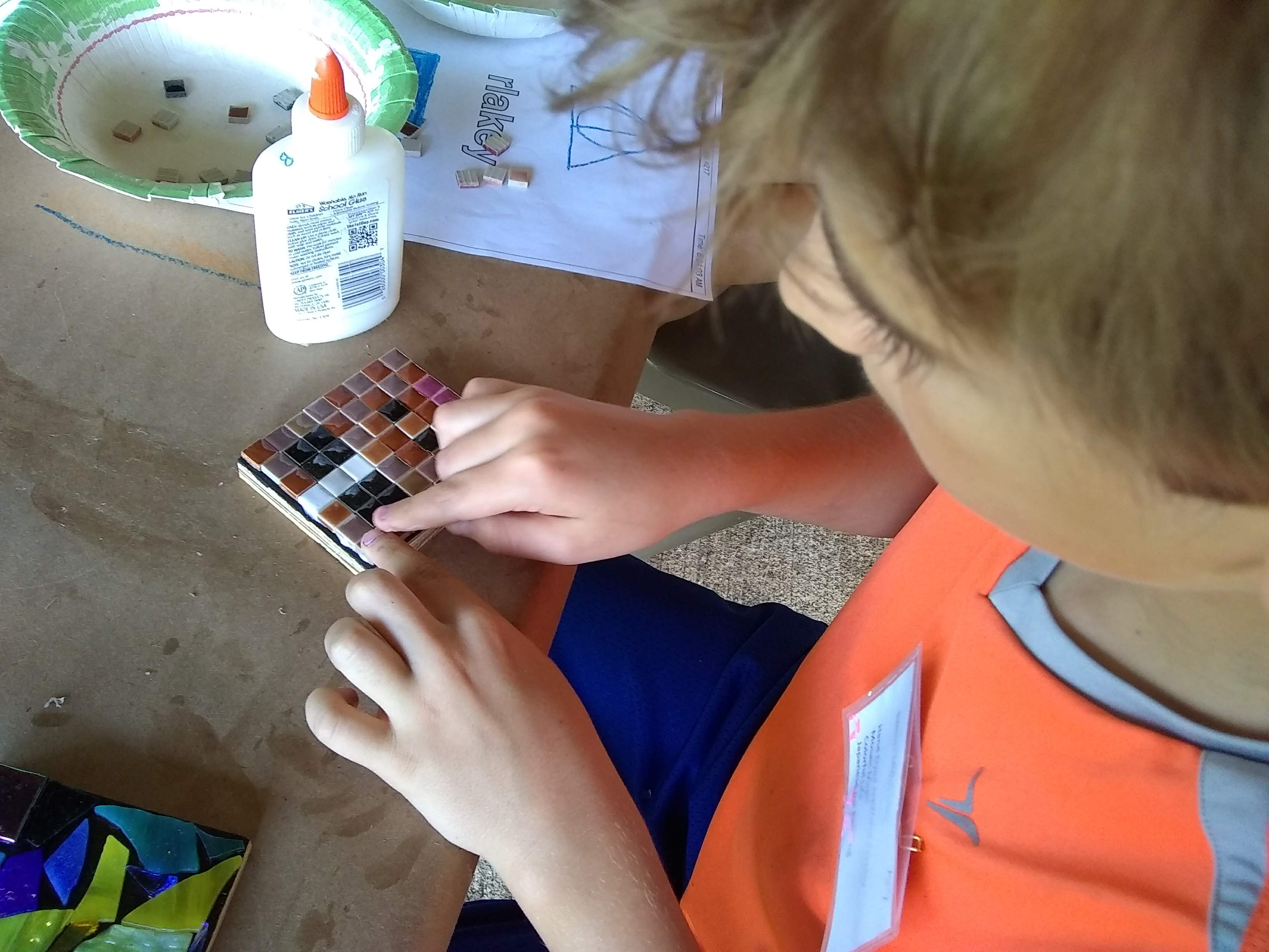 Little Middle, John C Campbell Folk School mosaic making with Jeannette Brossart